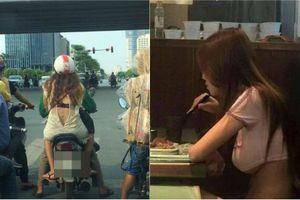 Ăn mặc hớ hênh xuống phố, các cô gái Việt nhận đủ gạch đá