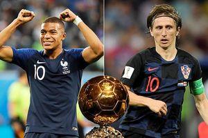 Quả bóng vàng World Cup 2018: Mbappe và Modric chiếm ưu thế