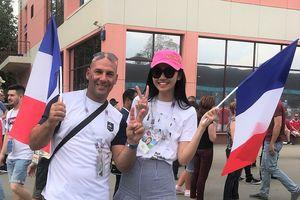 Á hậu Thanh Tú sang Nga xem chung kết World Cup ngay sát giờ đá