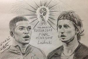 Ngắm dàn cầu thủ World Cup qua loạt tranh vẽ tay của 9X Hà Nội