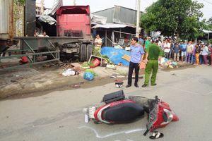 Xe container đâm vào nhà dân làm 1 người chết, 5 người bị thương