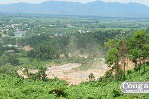 Khai thác đất, đá gây mất an toàn hồ chứa nước Trà Cân