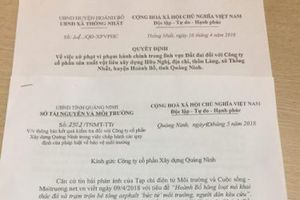 Hoành Bồ – Quảng Ninh: Tiếp tục xử phạt hai công ty gây ô nhiễm môi trường trong loạt bài phản ánh của Tạp chí Môi trường & Cuộc sống