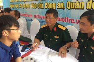 Các trường quân đội quy định mức điểm nhận hồ sơ từ 15 đến 22