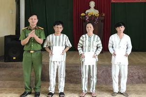 Trại tạm giam CA tỉnh Quảng Ngãi thực hiện tha tù trước thời hạn có điều kiện