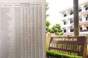 Lộ bảng điểm cao bất thường ở Lạng Sơn: Một nhóm thí sinh là công an nghĩa vụ
