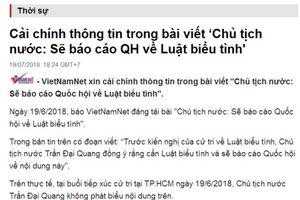 Thông tin sai sự thật, báo điện tử VietNamNet bị phạt 50 triệu đồng