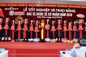 Trường đại học Y Dược Cần Thơ tổ chức lễ tốt nghiệp cho sinh viên