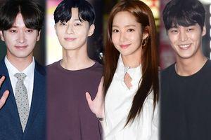 Park Min Young, Park Seo Joon và Lee Tae Hwan 'tươi không cần tưới' trong buổi tiệc kết thúc phim 'Thư ký Kim'