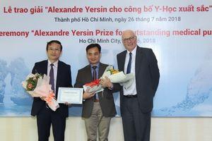 Giải thưởng Yecxanh được trao cho nghiên cứu xuất sắc về nhiễm khuẩn huyết của bệnh viện TƯQĐ 108