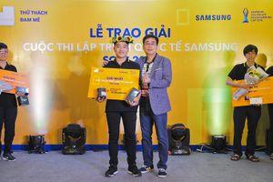 Sinh viên Bách Khoa thắng Cuộc thi Lập trình Quốc tế Samsung 2018