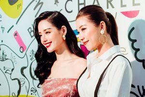 Khánh Linh, Đồng Ánh Quỳnh đọ dáng tại lễ khai trương Charles & Keith
