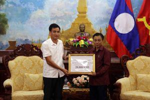 Cán bộ CNV, người lao động Bộ Tài nguyên và Môi trường ủng hộ nhân dân Lào sau sự cố vỡ đập thủy điện