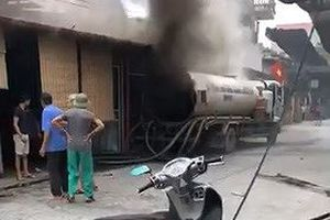 Thùng xe bồn phát nổ, một người tử vong