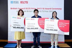 Giải thưởng IELTS năm 2018: Ba thí sinh xuất sắc nhất giành giải thưởng cấp quốc gia
