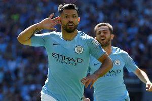Aguero lập cú đúp, Man City hạ Chelsea để giành siêu cúp Anh