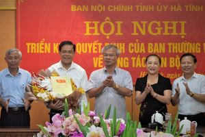 Nguyên chỉ huy bộ đội biên phòng làm Trưởng ban Nội chính Hà Tĩnh