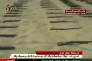 Quân đội Syria chiếm giữ kho vũ khí thánh chiến lớn trên chiến trường Homs