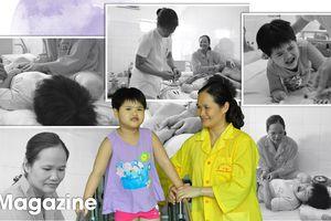 Bước chân run rẩy và nụ cười của cô bé 5 tuổi trong bệnh viện