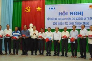 Tập huấn ATGT cho người có uy tín trong đồng bào Khmer Sóc Trăng