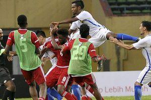 Cầu thủ Olympic UAE và Malaysia hỗn chiến trong trận giao hữu trước ASIAD 2018