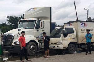 Xe container lùi trong bãi xe Phương Nam Logistics cán chết phụ xe 16 tuổi