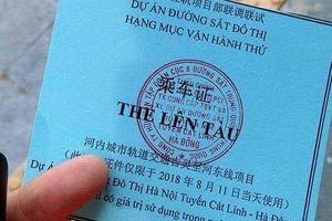 Phê bình nghiêm khắc Tổng thầu Trung Quốc vụ thẻ lên tàu in chữ Trung Quốc