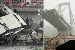 Sập cầu cao tốc ở Italy, 20 phương tiện bị vùi dưới bê tông