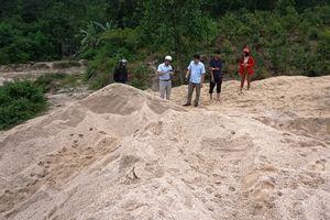 Gia Lai: Phát hiện một vụ hút cát trái phép khối lượng lớn