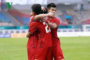 Bảng xếp hạng bóng đá ASIAD 2018: Việt Nam dẫn đầu bảng D