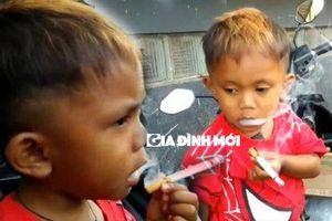 Cậu bé 2 tuổi mỗi ngày hút 40 điếu thuốc cùng cà phê