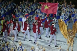 Đoàn thể thao Việt Nam tại khai mạc ASIAD 2018