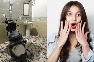 Đăng đàn khoe bố cẩn thận cất xe vào nhà tắm chống trộm, cô nàng khiến dân mạng choáng ngợp vì điều này