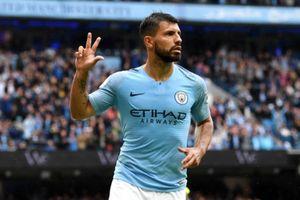 Aguero ghi hat-trick, Man City đánh tennis trước Huddersfield