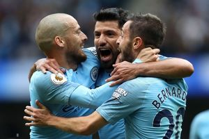 Chấm điểm Man City 6-1 Huddersfield: Đêm thăng hoa của Aguero, Jesus