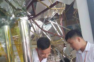 Đứt cáp cẩu tháp công trình xây dựng, một phụ nữ bị thương nặng