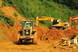 Nghệ An đã thông xe trên đường QL 7A do sạt lở