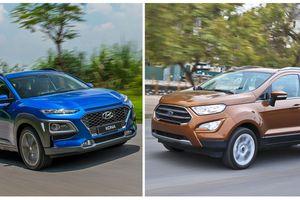 So sánh chi tiết Hyundai Kona 2018 và Ford EcoSport 2018 - xe nào 'chất' hơn?