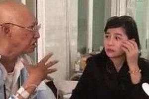 Thăm nghệ sĩ Lê Bình đang bị ung thư, Cát Phượng xót xa
