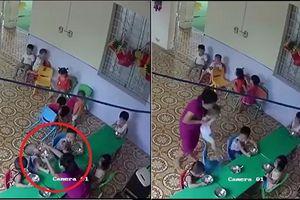 Phẫn nộ giáo viên mầm non vừa đánh vừa nhồi nhét thức ăn vào miệng bé trai hơn 2 tuổi