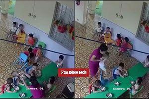 Cô giáo mầm non nhồi nhét thức ăn, đánh bé 2 tuổi không thương tiếc