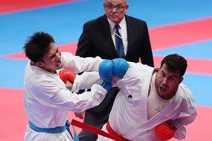 Nguyễn Minh Phụng giành huy chương bạc karate, hạng cân trên 84kg