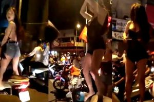 Cảnh sát ập đến khi cô gái ở Sài Gòn cởi quần mừng Olympic Việt Nam thắng Syria