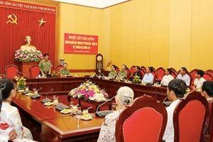 Đoàn đại biểu người có uy tín trong dân tộc thiểu số tỉnh Bà Rịa - Vũng Tàu đến thăm Bộ Công an