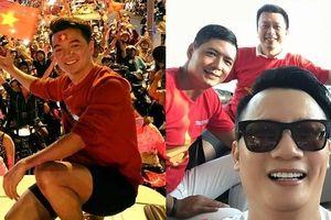 Mr Đàm làm thơ, Hoàng Bách cùng loạt sao Việt sang Indonesia ủng hộ Olympic Việt Nam