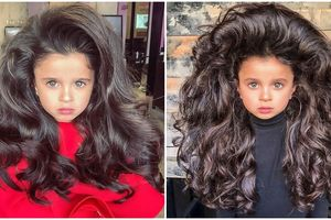 Người mẫu nhí Israel gây sốt mạng xã hội nhờ 'mái tóc đẹp nhất thế giới'