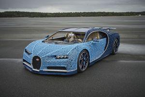 Thử lái Bugatti Chiron phiên bản Lego cũng hấp dẫn không kém bản 'xịn'