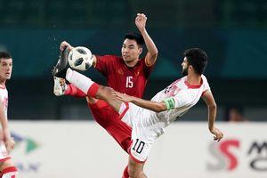 Tiền vệ đánh chặn của Olympic Việt Nam Đức Huy: 'UAE chơi trung lộ rất hay'