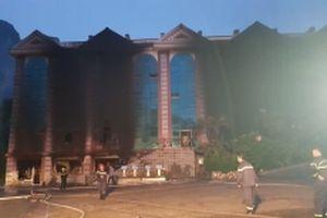 Cháy lớn tại Công ty TNHH sân golf Phượng Hoàng
