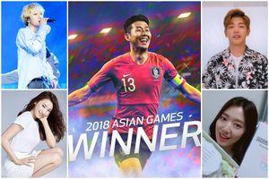 Sao Hàn ăn mừng đội tuyển vô địch